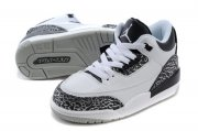 Wholesale Cheap Air Jordan 3 Kids Wolf Grey White/Black