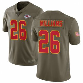 Wholesale Cheap Nike Chiefs #26 Damien Williams Olive Men\'s Stitched NFL Limited 2017 Salute To Service Jersey