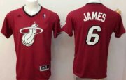 Wholesale Cheap Miami Heat #6 LeBron James Revolution 30 Swingman 2013 Christmas Day Red Jersey
