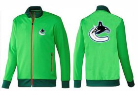 Wholesale Cheap NHL Vancouver Canucks Zip Jackets Green-1