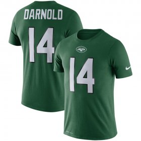 Wholesale Cheap New York Jets #14 Sam Darnold Nike Player Pride 3.0 Name & Number Performance T-Shirt Green