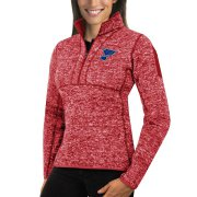 Wholesale Cheap St. Louis Blues Antigua Women's Fortune 1/2-Zip Pullover Sweater Red