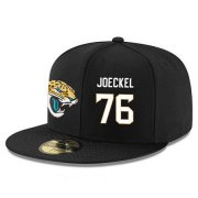 Wholesale Cheap Jacksonville Jaguars #76 Luke Joeckel Snapback Cap NFL Player Black with White Number Stitched Hat