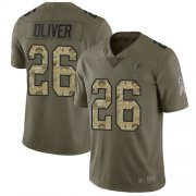 Wholesale Cheap Nike Falcons #20 Isaiah Oliver Olive/Camo Men's Stitched NFL Limited 2017 Salute To Service Jersey
