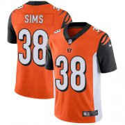 Wholesale Cheap Nike Bengals #38 LeShaun Sims Orange Alternate Youth Stitched NFL Vapor Untouchable Limited Jersey