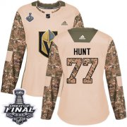 Wholesale Cheap Adidas Golden Knights #77 Brad Hunt Camo Authentic 2017 Veterans Day 2018 Stanley Cup Final Women's Stitched NHL Jersey