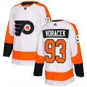 Wholesale Cheap Adidas Flyers #93 Jakub Voracek White Road Authentic Stitched NHL Jersey