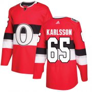 Wholesale Cheap Adidas Senators #65 Erik Karlsson Red Authentic 2017 100 Classic Stitched Youth NHL Jersey