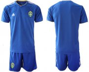 Wholesale Cheap Sweden Blank Away Soccer Country Jersey