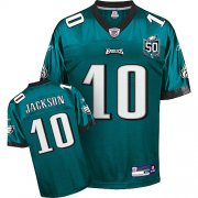 Wholesale Cheap Eagles #10 DeSean Jackson Green Team 50TH Anniversary Patch Stitched NFL Jersey