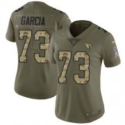 Wholesale Cheap Nike Cardinals #73 Max Garcia Olive/Camo Women's Stitched NFL Limited 2017 Salute To Service Jersey