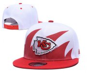Wholesale Cheap Chiefs Team Logo Red White Adjustable Hat