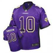 Wholesale Cheap Nike Vikings #10 Fran Tarkenton Purple Team Color Men's Stitched NFL Elite Drift Fashion Jersey