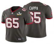 Wholesale Cheap Men's Tampa Bay Buccaneers #65 Alex Cappa Grey 2021 Super Bowl LV Limited Stitched NFL Jersey