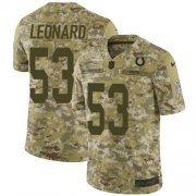 Wholesale Cheap Nike Colts #53 Darius Leonard Camo Men's Stitched NFL Limited 2018 Salute To Service Jersey