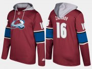 Wholesale Cheap Avalanche #16 Nikita Zadorov Burgundy Name And Number Hoodie