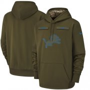 Wholesale Cheap Youth Detroit Lions Nike Olive Salute to Service Sideline Therma Performance Pullover Hoodie