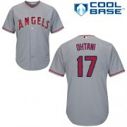 Wholesale Cheap Angels of Anaheim #17 Shohei Ohtani Grey New Cool Base Stitched MLB Jersey