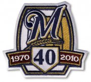 Wholesale Cheap Stitched 2010 Milwaukee Brewers 40th Anniversary Jersey Patch
