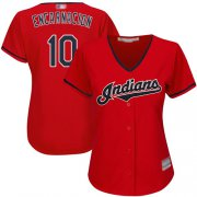 Wholesale Cheap Indians #10 Edwin Encarnacion Red Women's Stitched MLB Jersey