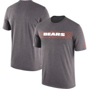Wholesale Cheap Chicago Bears Nike Sideline Seismic Legend Performance T-Shirt Charcoal