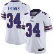 Wholesale Cheap Nike Bills #34 Thurman Thomas White Men's Stitched NFL Vapor Untouchable Limited Jersey
