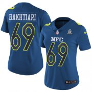 Wholesale Cheap Nike Packers #69 David Bakhtiari Navy Women's Stitched NFL Limited NFC 2017 Pro Bowl Jersey
