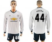 Wholesale Cheap Manchester United #44 Pereira Sec Away Long Sleeves Soccer Club Jersey
