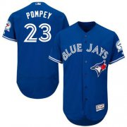 Wholesale Cheap Blue Jays #23 Dalton Pompey Blue Flexbase Authentic Collection Stitched MLB Jersey