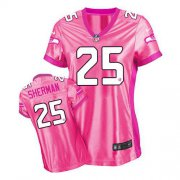 Wholesale Cheap Nike Seahawks #25 Richard Sherman Pink Women's Be Luv'd Stitched NFL New Elite Jersey