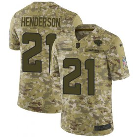 Wholesale Cheap Nike Jaguars #21 C.J. Henderson Camo Youth Stitched NFL Limited 2018 Salute To Service Jersey