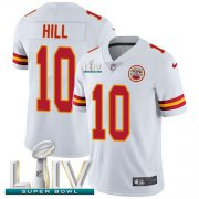 Wholesale Cheap Nike Chiefs #10 Tyreek Hill White Super Bowl LIV 2020 Men's Stitched NFL Vapor Untouchable Limited Jersey