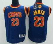 Cheap Youth Cleveland Cavaliers #23 LeBron James Navy Blue 2016 The NBA Finals Patch Jersey