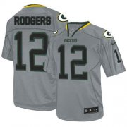 Wholesale Cheap Nike Packers #12 Aaron Rodgers Lights Out Grey Youth Stitched NFL Elite Jersey