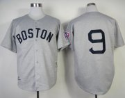 Wholesale Cheap Mitchell And Ness 1939 Red Sox #9 Ted Williams Grey Throwback Stitched MLB Jersey