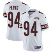 Wholesale Cheap Nike Bears #94 Leonard Floyd White Men's 100th Season Stitched NFL Vapor Untouchable Limited Jersey