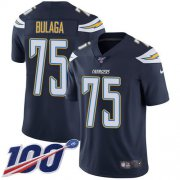 Wholesale Cheap Nike Chargers #75 Bryan Bulaga Navy Blue Team Color Youth Stitched NFL 100th Season Vapor Untouchable Limited Jersey