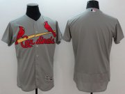 Wholesale Cheap Cardinals Blank Grey Flexbase Authentic Collection Stitched MLB Jersey