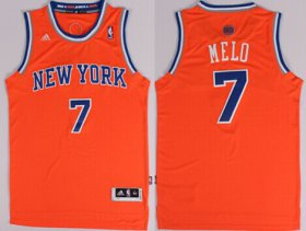 Wholesale Cheap New York Knicks #7 Melo Nickname Orange Swingman Jersey