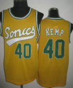 Wholesale Cheap Seattle Supersonics #40 Shawn Kemp 2003-04 Yellow Swingman Jersey