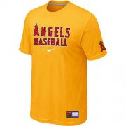 Wholesale Cheap Los Angeles Angels Nike Short Sleeve Practice MLB T-Shirt Yellow