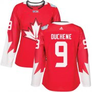 Wholesale Cheap Team Canada #9 Matt Duchene Red 2016 World Cup Women's Stitched NHL Jersey
