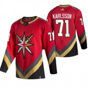 Wholesale Cheap Vegas Golden Knights #71 William Karlsson Red Men's Adidas 2020-21 Reverse Retro Alternate NHL Jersey