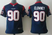 Wholesale Cheap Nike Texans #90 Jadeveon Clowney Navy Blue Team Color Youth Stitched NFL Elite Jersey