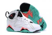 Wholesale Cheap Kids' Air Jordan 7 Retro Shoes White/pink-green-black