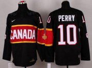 Wholesale Cheap Olympic 2014 CA. #10 Corey Perry Black Stitched NHL Jersey