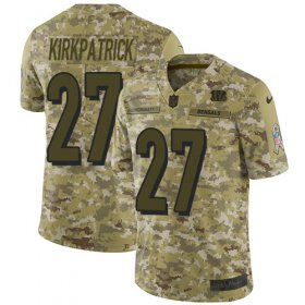 Wholesale Cheap Nike Bengals #27 Dre Kirkpatrick Camo Youth Stitched NFL Limited 2018 Salute to Service Jersey