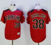 Wholesale Cheap Diamondbacks #38 Curt Schilling Red/Brick New Cool Base Stitched MLB Jersey