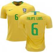 Wholesale Cheap Brazil #6 Filipe Luis Home Soccer Country Jersey