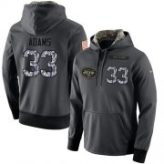 Wholesale Cheap NFL Men's Nike New York Jets #33 Jamal Adams Stitched Black Anthracite Salute to Service Player Performance Hoodie